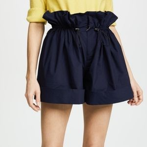 Sea New York Navy Paper Bag Cuff Shorts Sinched 6